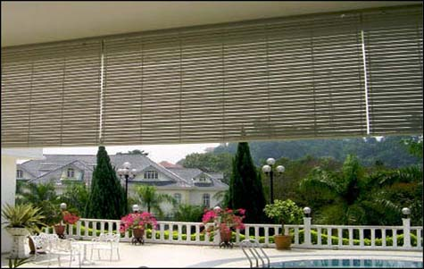 Outdoor Wooden Blinds Kosy Furnishing Kota Kinabalu Kk